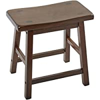 ACME 07303 Set of 2 Gaucho Stool, 18-Inch, Walnut Finish.