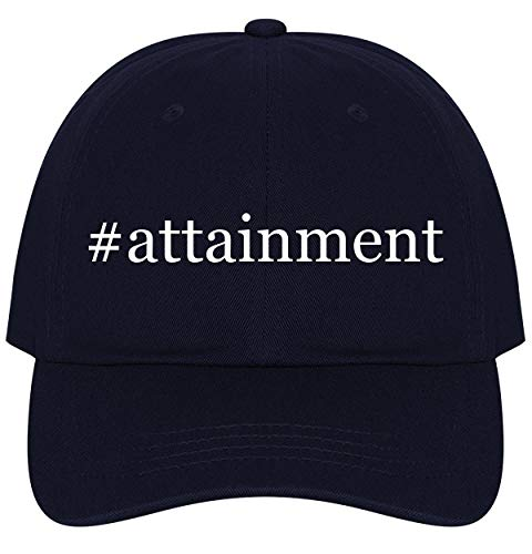 The Town Butler #Attainment - A Nice Comfortable Adjustable Hashtag Dad Hat Cap, Navy, One Size