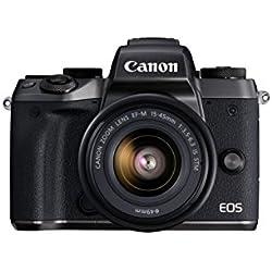 Canon EOS M5 Mirrorless Camera Kit 15-45mm Lens Kit - Wi-Fi Enabled & Bluetooth