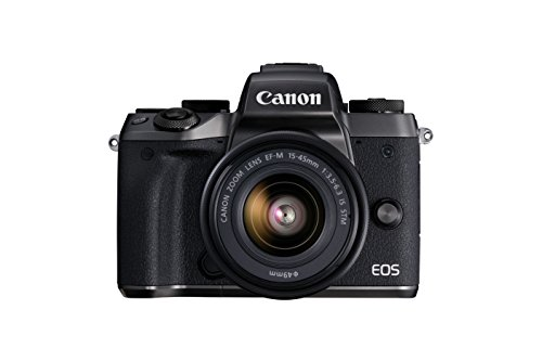 Canon EOS M5 Mirrorless Camera Kit  15-45mm  Lens Kit - Wi-Fi Enabled & Bluetooth