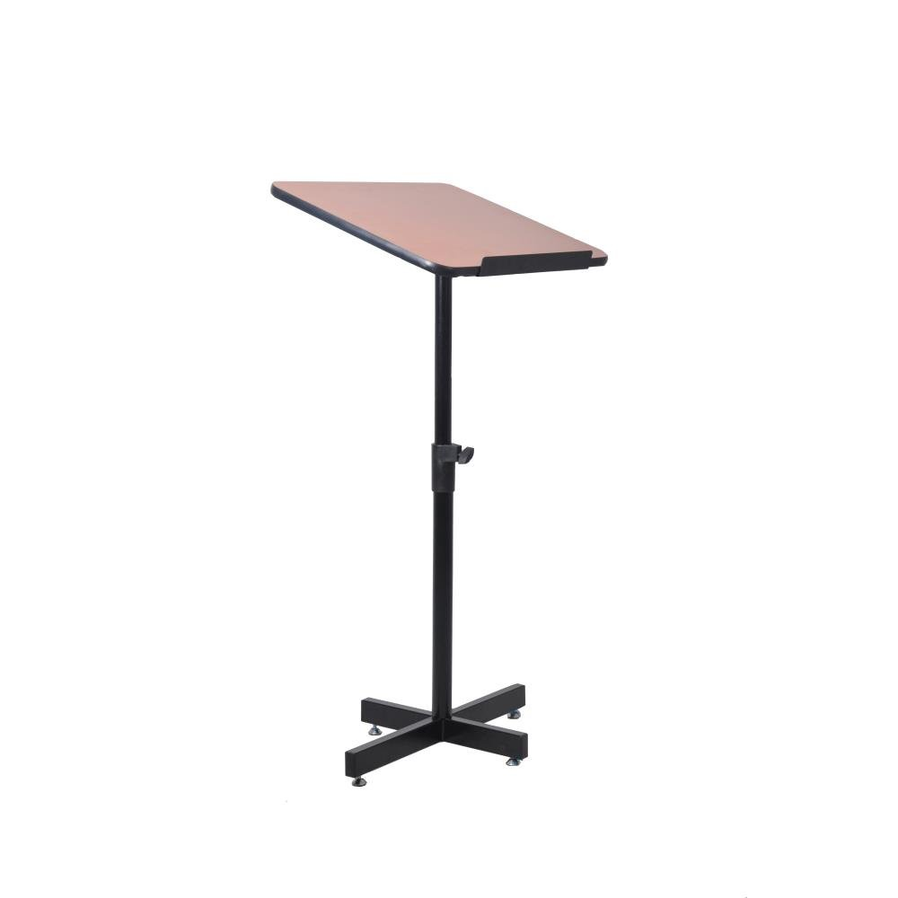 Portable Floor Lectern Podium Stand - Height Adjustable Steady Standing Design Teacher Speaker Lecture Classroom Presentation Stand, Laptop Computer Book Holder w/ Slanted Top Shelf - Pyle PLCTND44 by Pyle