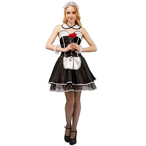 PGOND Women's Sexy Frech Maid Halloween Cosplay Costume