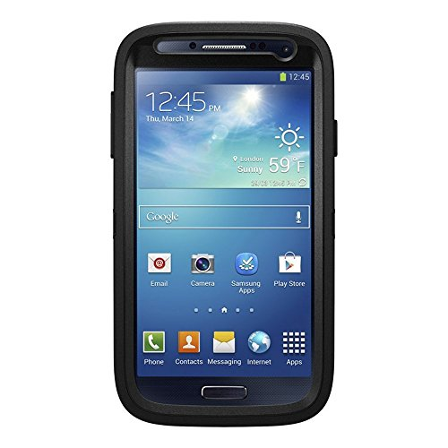 Otterbox Defender Series Case for Samsung Galaxy S4 - Bulk Packaging - Clip Not Included (Black) (Certified Refurbished) ()