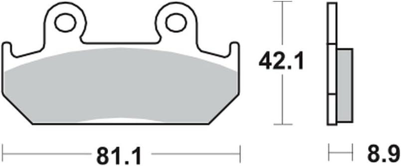 92/ Lucas Bremsbel/äge TRW MCB562SV f/ür HONDA XRV 750/Africa Twin RD04/90 vorne