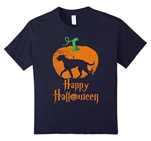 Kids IRISH WOLFHOUND In Pumpkin Happy Halloween T-shirt 12 (Irish Wolfhound Halloween Costume)