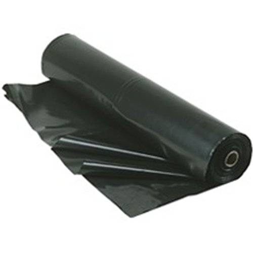 4 Mil Black Poly Sheeting - TRM Manufacturing 420B Weatherall 4 Mil Poly Plastic Sheeting Visqueen, 20' wide 100' long, 1 Roll in a box, Black