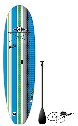 """BIC Sport Slide SUP Stand Up Paddleboard Package, Blue, 10'6"""" x 33"""" x 205 L"""