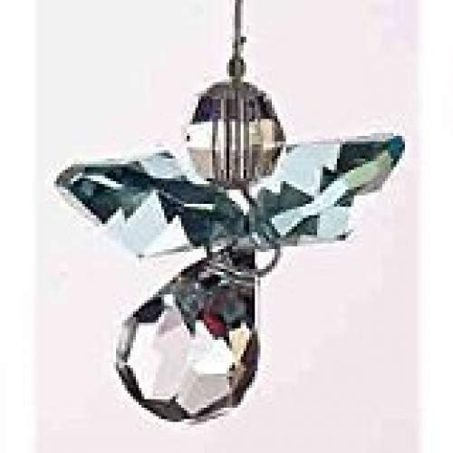 Hanging Crystal Guardian Angel Birthstone Suncatcher - Made Using Swarovski Crystals - MARCH - AQUAMARINE Emblems-Gifts