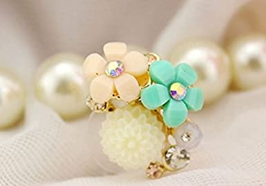 Other 3.5mm Ear Jack Sunday Gallery Earphone Jack Accessory Rose Flower Chain Beads Crystal Pearls Dust Plug For iPhone 4 4S Design #1 Samsung Galaxy S3 S4 S5 iPad Cell Phone Charms