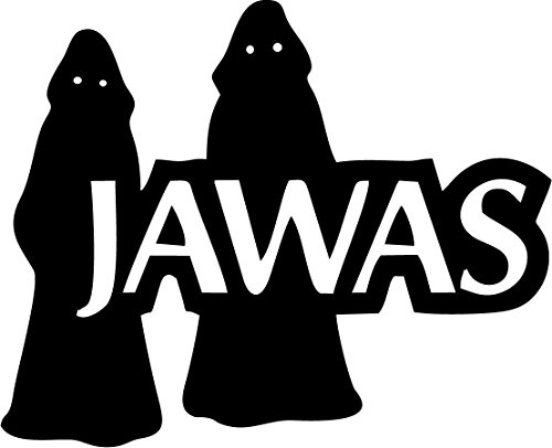 Jawa Vinyl (STAR WARS MOVIE JAWAS PROFILE VINYL STICKERS SYMBOL 5.5
