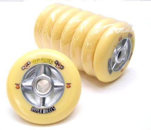 8 HYPER WHEELS TRACK GRABBER Fast gelb 104 mm 90a Inliner Rolle K2 Rollerblade Fila