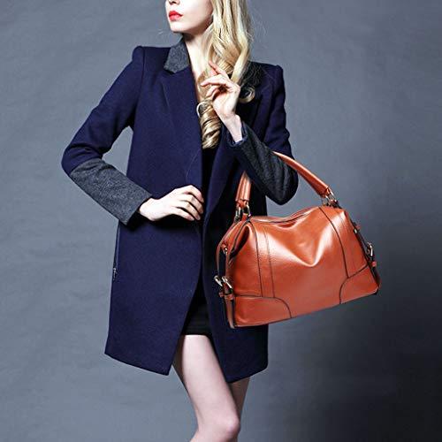Tracolla tracolla a moda morbida donna Tracolla incrociata Marrone colore Borsa blu UwUr1xqPyC
