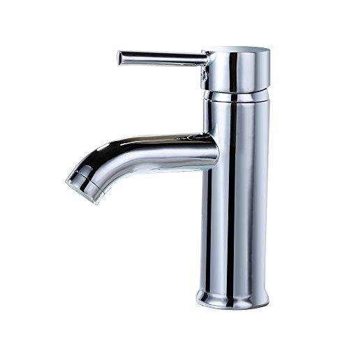 kes modern bathroom sink faucet single handle wash basin faucet lavatory tap leadfree brass polished chrome l3100alf