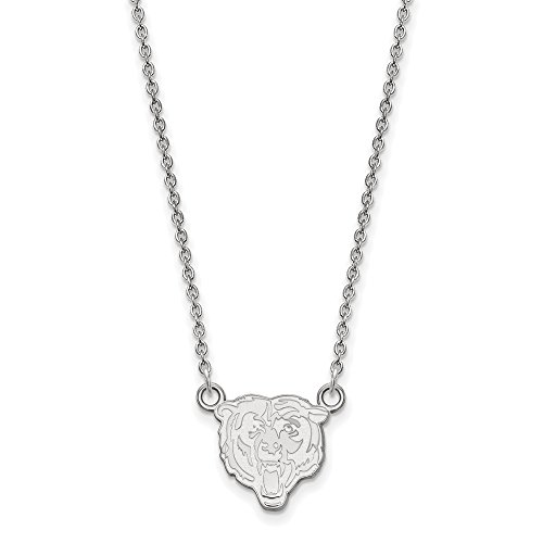(NFL Sterling Silver Chicago Bears Small Pendant with Necklace)