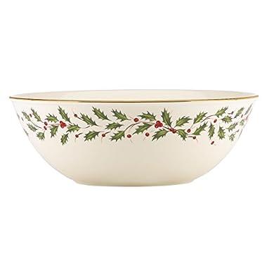 Lenox Holiday Large Bowl,Ivory