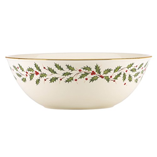 Lenox Holiday Large Bowl,Ivory