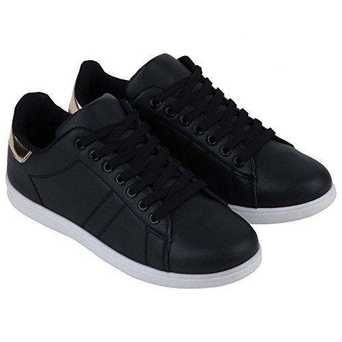Japado - Zapatillas Mujer Negro - negro y dorado