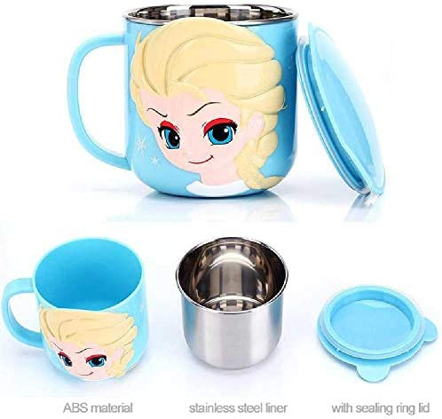 300ML Baby Kinder Milchbecher Cartoon Kreative Getränke Wasserbecher Baby Training Lernen Sie Trinkgeschirr Saftbecher Edelstahlbecher Beige