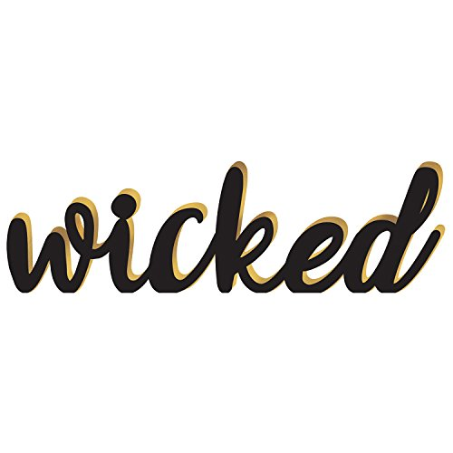 Amscan Halloween Decoration 242267 Wicked Block Letter Sign, Multicolor -