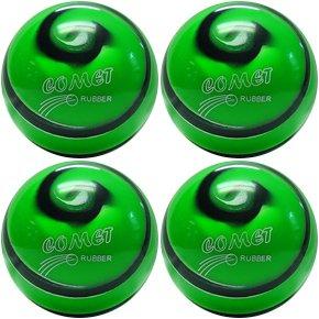 EPCO-Duckpin-Bowling-Ball-4-Comet-Pro-Rubber-Green-Black-White-Balls