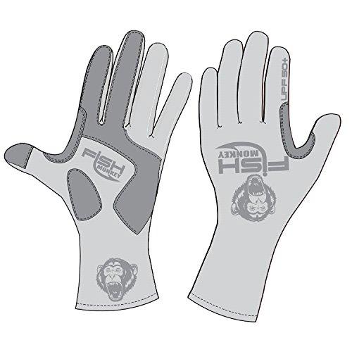 Fish Monkey Gloves Full Finger Guide Gloves, Medium, Lite Grey