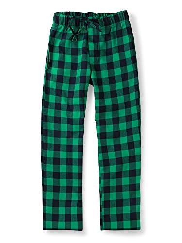 - OCHENTA Men's Cotton Woven Pajama Lounge Pant, Plaid Soft Sleepwear Green Plaid 30