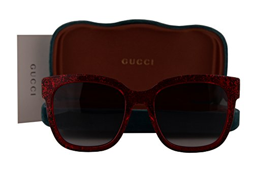 Gucci GG0034S Sunglasses Red w/Grey Gradient Lens 006 GG - New 2017 Gucci Glasses