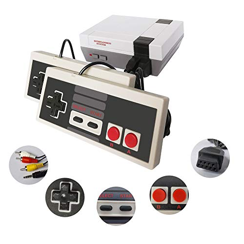 Classic Mini Retro Game Console with Built-in 620 Games and 2 NES Classic Controllers, AV Output Video Games for Kids, Children Gift, Birthday Gift Happy Childhood Memories from CZHOON