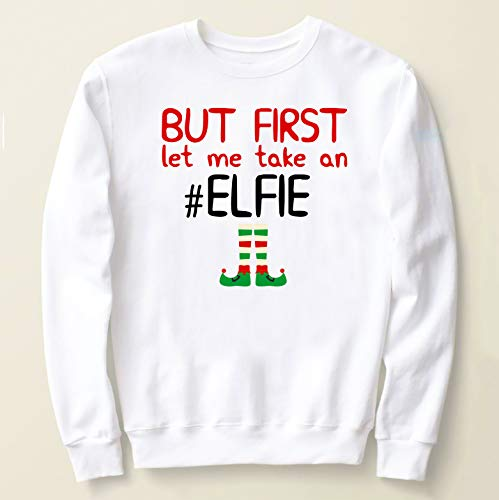 (Ugly Christmas Sweater With Elf Clip art,Friend Selfie Christmas Sweater,Ugly Christmas funny shirt, Gift For Her,Funny Woman Sweater)