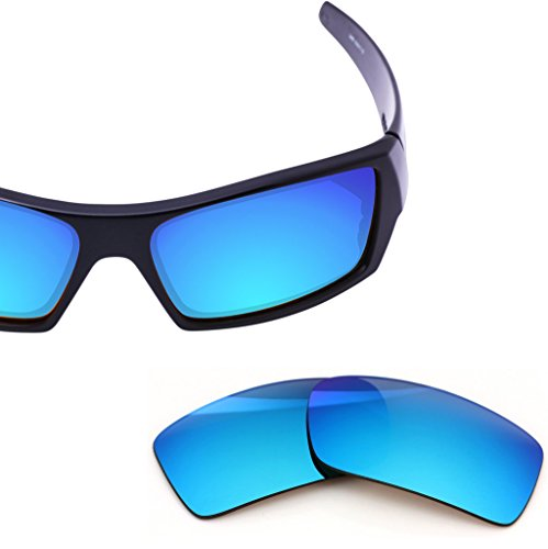 (LenzFlip Replacement Lenses for Oakley Gascan - Multiple Options (Grey Polarized with Blue Mirror,)