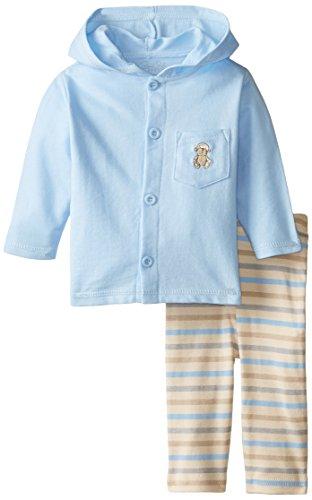 - Rene Rofe Baby Baby Boys' 2 Piece Hooded Monkey Cardigan and Pant Set, Safari Blue/Stripes, 0-3 Months