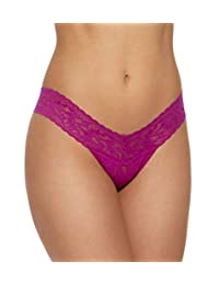 Hanky Panky Signature Lace Low Rise Thong, One Size, Belle Pink