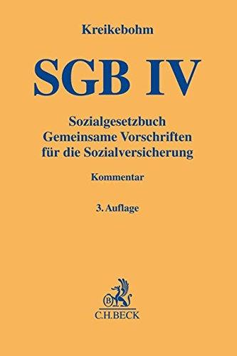 Sozialgesetzbuch  Gemeinsame Vorschriften Für Die Sozialversicherung   SGB IV