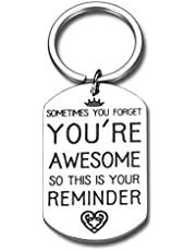 Inspirational Birthday Gift for Women Men Funny Keychain for Friend BFF Her Him Thank You Appreciation Gift for Coworker Boss Teacher Graduation to Daughter Son from Mom Dad Thanksgiving Christmas
