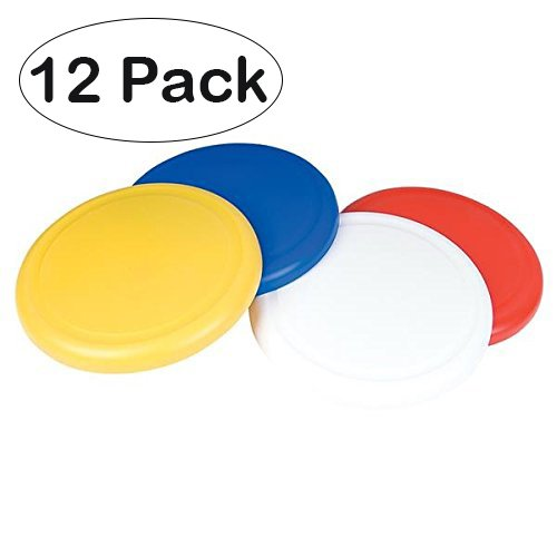 Flying Discs, Frisbee's - 12 Pack 4 bright Colors - For Boys And Girls – By Kidsco