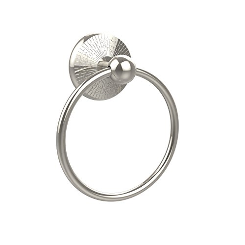 - Allied Brass PMC-16-PNI 6-Inch Towel Ring, Polished Nickel