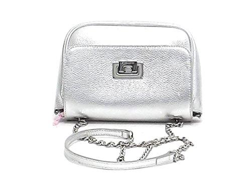 borsa BV3 a 55E607 Coccinelle argento donna borsa pelle E8102 spalla Minibag H4nZnxdw1