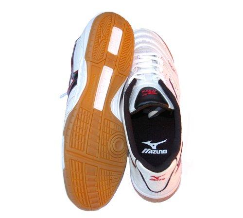 Mizuno, Homens Futsal Sapatos Branco-vermelho