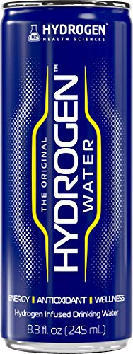 Molecular Hydrogen Infused Pure Drinking/ Non-Carbonated Canned Water Energy Drink | Powerful Antioxidant Protection & Anti-Aging | Ultra Purified with Electrolytes | Workout Power Booster | 8.3 Oz (2