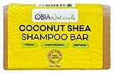 OBIA Naturals Coconut Shea Vegan Lush Solid Shampoo Bar Sulfate-Free Moisturizing Hair Wash, 4 Ounce