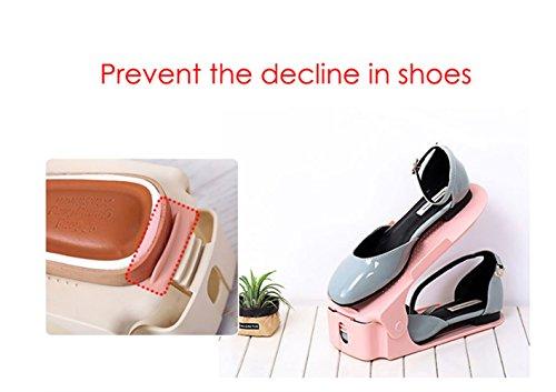 Nord du Bleu multicolore chaussures chaussures Set – à pour europe économique pour empiler les Support économie d'espace réglable Plastique 8Pcs chaussures gHRTw