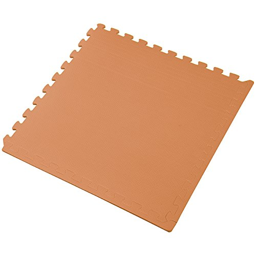 We Sell Mats Orange 16 Square Ft (4 Tiles + Borders) Foam Interlocking Floor Square Tiles by We Sell Mats (Image #3)