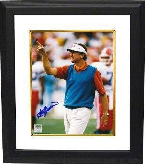 (Signed Steve Spurrier Photo - Coaching 8x10 Custom Framing Hologram - JSA Certified - Autographed College Photos)