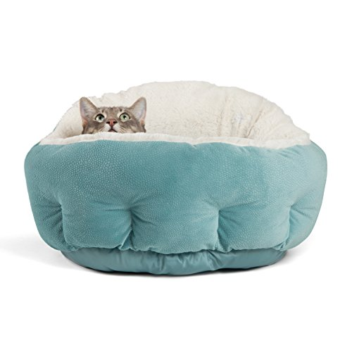 Best Friends by Sheri OrthoComfort Deep Dish Cuddler – Self-Warming Cat and Dog Bed Cushion for Joint-Relief and Improved Sleep – Machine Washable, Waterproof Bottom – For Pets Up to 25lbs