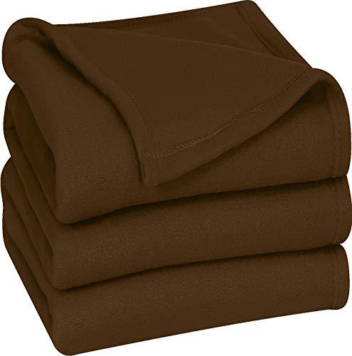 Polar Fleece Premium Bed Blanket - Extra Soft Brushed Microfiber - (Twin, Chocolate)