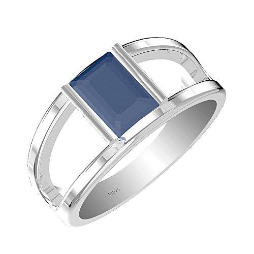 1.50ct Genuine Amethyst Garnet Swiss Blue Topaz Moldavite Gemstone .925 Sterling Silver Ring