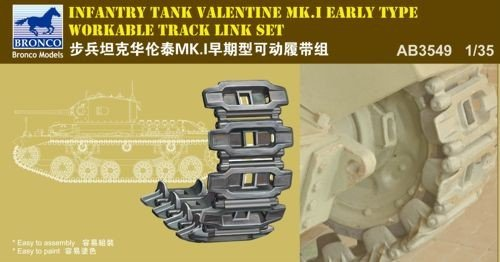 Bronco Valentine Infantry Tank (Late Type) Workable Track Link Set 1:35 Scale Military Model Kit