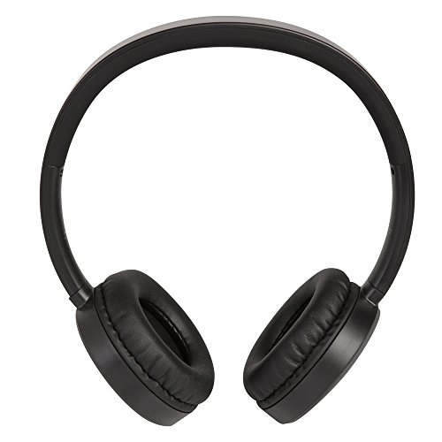 HMDX Journey On-Ear Bluetooth Wireless Headphones, Up to 10 hours playtime, Lightweight, Hands-Free Calling, User-Friendly Controls (Black)
