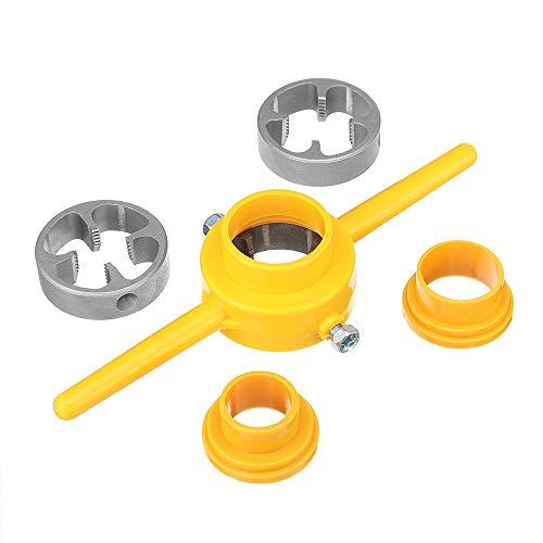 (Pukido 6pcs NPT Die Set PVC Thread Tool Maker 1/2 3/4 1 Inch PVC Pipe Threader Screw Die)