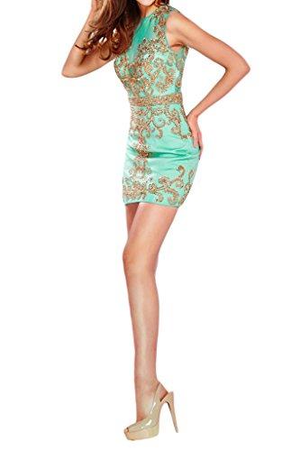 corto Homecoming protezione fiesta Verde Sunvary abito senza maniche wq7xqzIX